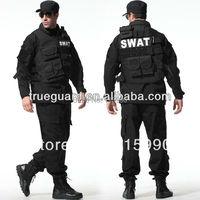 Tactical Rip stop Black Army Uniforms army camouflage uniform tactical clothing BDU black suit set