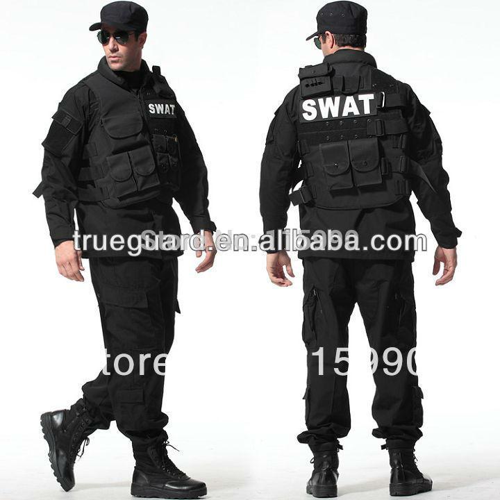 Taktické rip-stop černé armádní uniformy armádní maskování uniformy taktického oblečení BDU set černé barvy