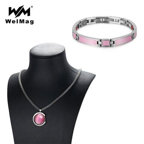 Женский браслет из нержавеющей стали welmag розовый ювелирный