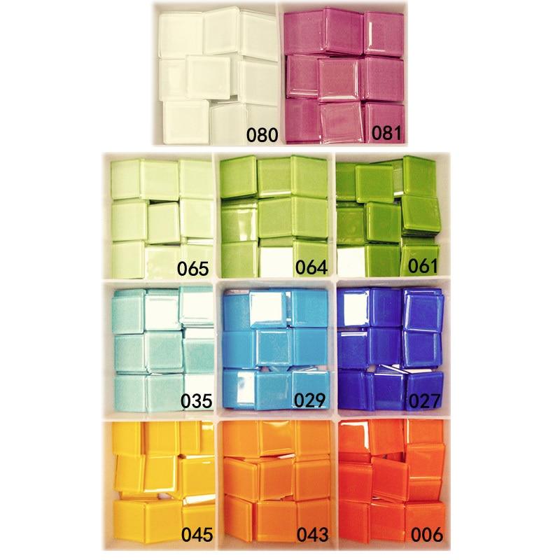 180pcs lot 18 color mosaic beads scramble tiles for Mosaic tiles for craft