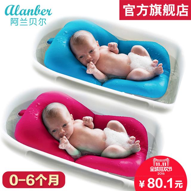 Rack de banho do bebê recém-nascido banheira colchão macio tapete para banho do bebê