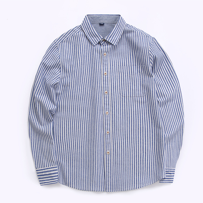 26eaf2bc17918 Drop Shipping Business Shirts Men Linen Cotton blend Button Down long Sleeve  Muscle striped Dress Shirt men Slim Fit Male MP45-in Casual Shirts from  Men s ...