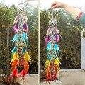 H & D Chakra Traum Catcher Kronleuchter Prisma Suncatcher Regenbogen Maker Feder Hause Wand Hängen Fengshui Dreamcatcher Decor Anhänger-in Windspiele & hängende Dekoration aus Heim und Garten bei