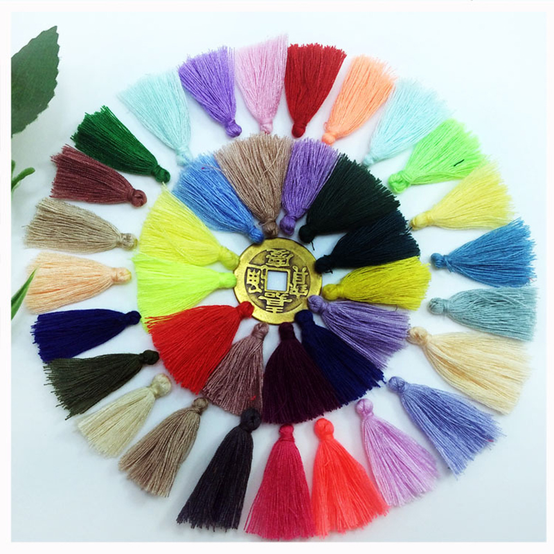 200pcs/lot 3cm clothing accessories key tassel Outer ring sewing tassel trim decorative key tassels for curtain home decoration