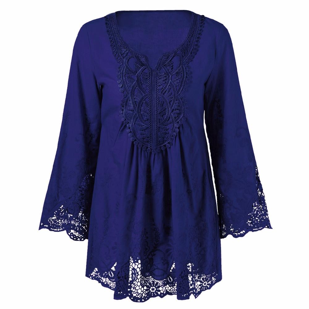 HTB1zqNdOpXXXXXtXXXXq6xXFXXX5 - Gamiss Plus Size 5XL Female Blusa Retro Spring Autumn Lace Floral