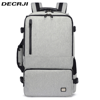 DECRJI 2020 Waterproof Oxford Backpack Men Multifunction Business Large Capacity Travel Laptop Backpack Student Escolar Mochila