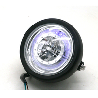 CNC Metal Diameter 5.2inches 2005 cg125 cafe racer Virago 250 motorcycle LED headlight