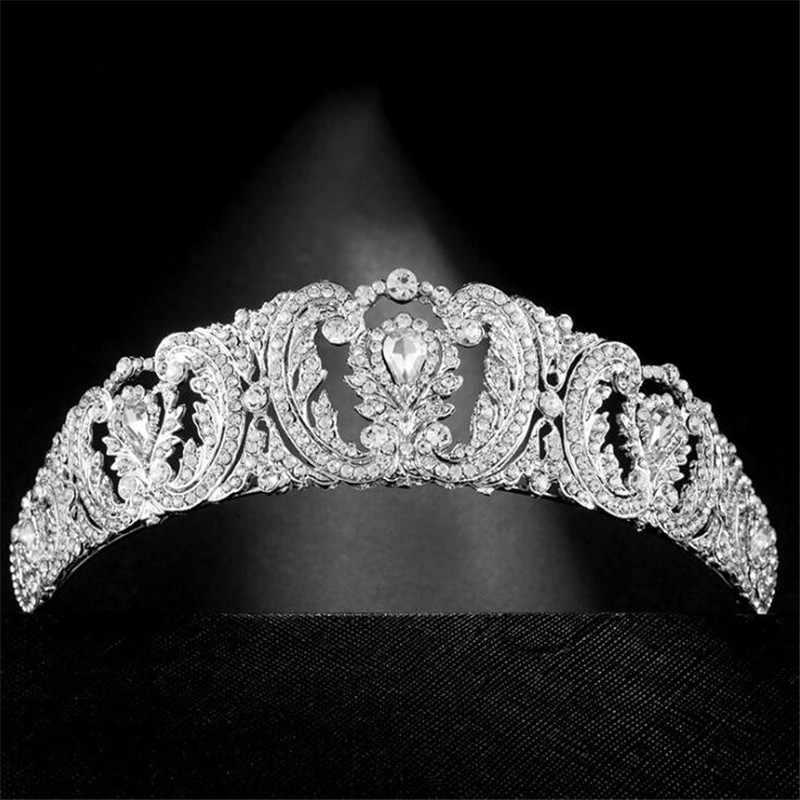 Mariée couronne accessoires de mariage reine royale princesse Zircon cristal bandeaux mariée diadème cheveux bijoux ornements de mode bal