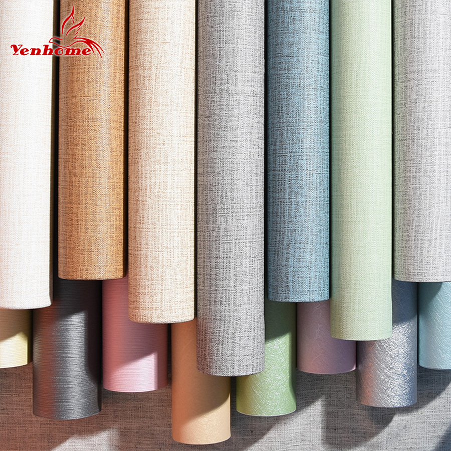 Aliexpress.com : Buy 60cmX3m Modern Solid Self adhesive Wallpaper Roll For living room TV ...