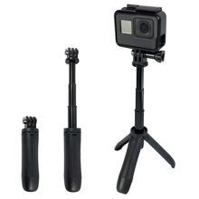 2019 New Handheld Mini Tripod Mount Selfie Stick Extendable Monopod for Gopro Hero 7 6 5 4 SJCAM Xiaomi YI 4k Go Pro Sports Cam цены онлайн