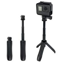 2019 New Handheld Mini Tripod Mount Selfie Stick Extendable Monopod for Gopro Hero 8 7 6 5 4 SJCAM Xiaomi YI 4k Go Pro Sport Cam