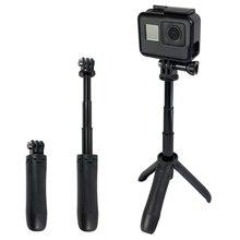 Handheld Mini Stativ Selfie Stick Erweiterbar Einbein für Gopro Hero 9 8 7 6 5 4 SJCAM YI 4k Gehen Pro Sport Cam Zubehör