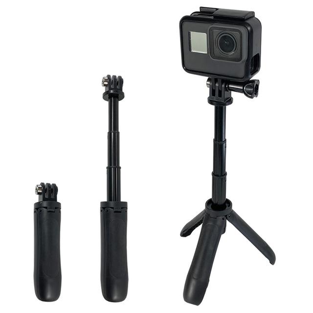 Mini tripé de mão para selfie, bastão monopé extensível para gopro hero 8 7 6 5 4 sjcam xiaomi, novo, 2019 yi 4k go pro câmera esportiva
