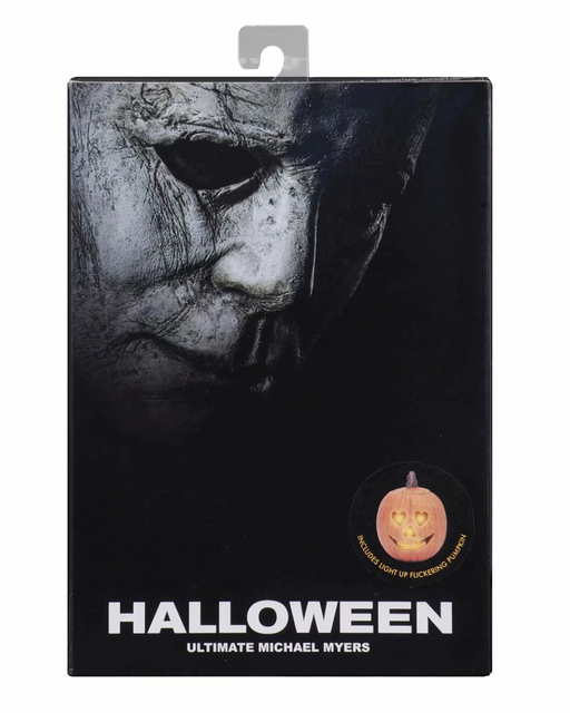 NECA Halloween Ultimate Michael Myers Pumpkin With LED Light PVC Action Figure Toy Doll Gift Brinquedos