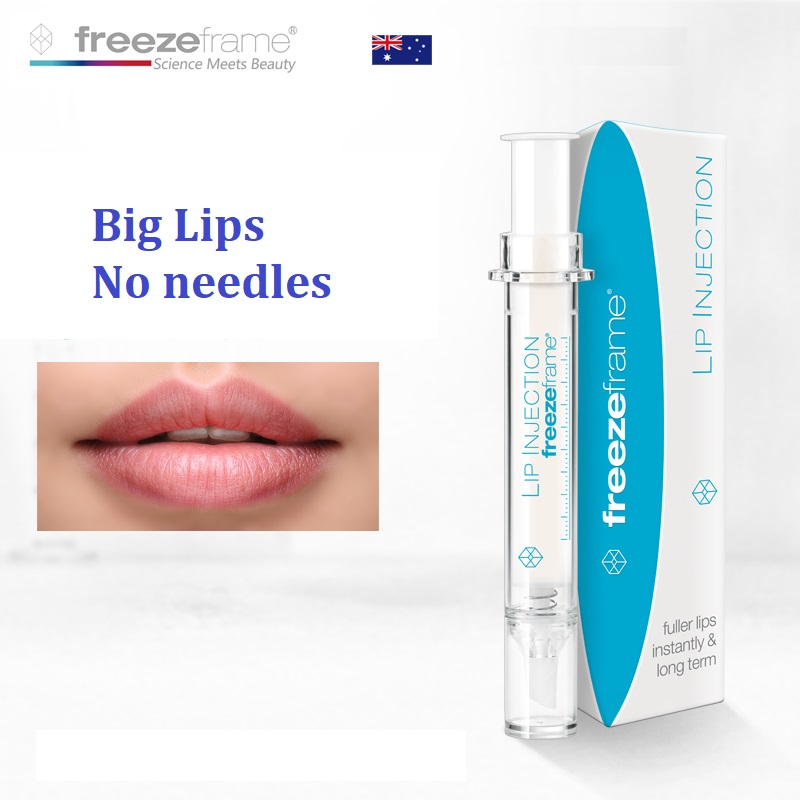 Australia Freezeframe LIP INJECTION Free Big Fuller Lips No needles Wrinkle reducing Lip volumising Lip treatment