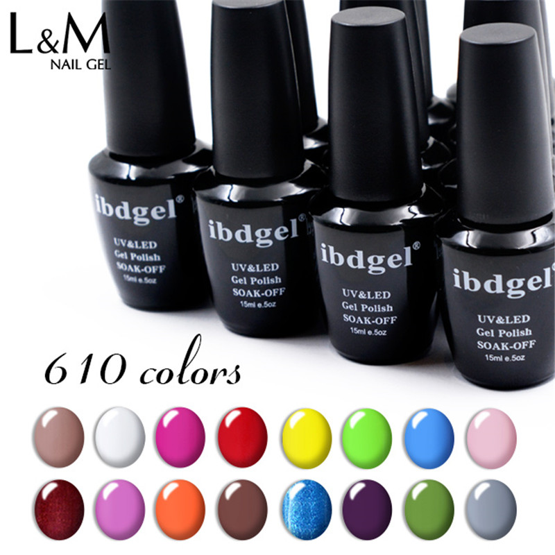 3 st. Set ibdgel 15ml Nails Color Gel Nagellack och Top Coat Vernis UV LED Gel Lack Glitter Nagel Gelpolish Gellacke