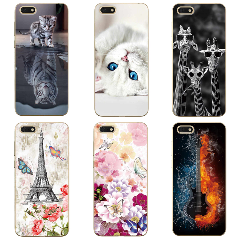 For Huawei Y5 Lite 2018 DRA-LX5 Case Phone Back Cover Painted Case For Huawei Y5 Lite 2018 5.45 Cover Protection Shell Fundas