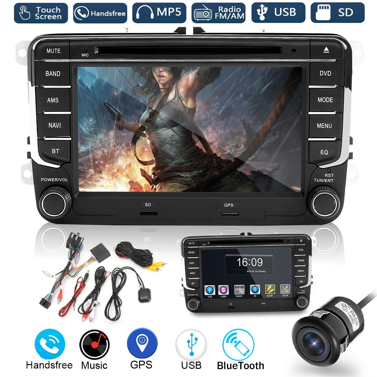 Kroak 7 Inch 2 Din Car DVD Player Radio GPS Navigaiton Sat Nav Stereo Camera for VW /Passat /Golf /Jetta /Skoda антенны телевизионные ritmix антенна телевизионная