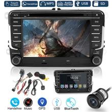 Kroak 7 Inch 2 Din Car DVD Player Radio GPS Navigaiton Sat Nav Stereo Camera for VW /Passat /Golf /Jetta /Skoda