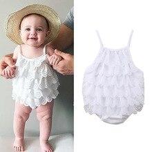 Newborn Baby Clothing 2019 Summer Sleeveless Boy Girls Clothes Cotton White Kids Bodysuits Jumpsuits