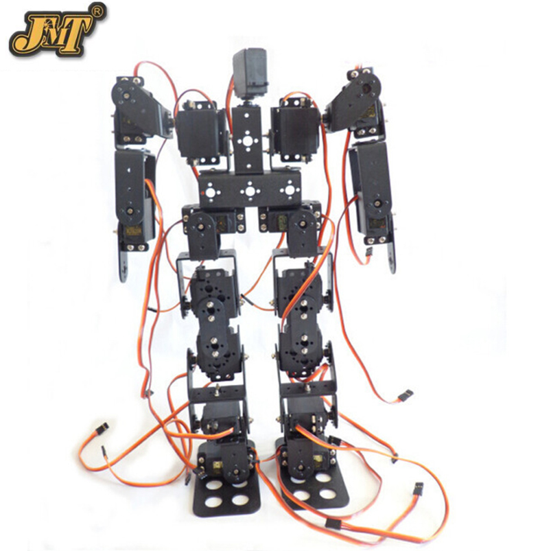 DIY Robot 17DOF Biped Robotic Educational Robot Humanoid Kit Servo Bracket Educational Toy F17326 new 17 degrees of freedom humanoid biped robot teaching and research biped robot platform model no electronic control system