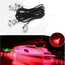 4PCS LED Boat Light Waterproof 12v SunFish TRI WAVERUNNER SUPERJET For Yamaha  KAWASAKI STX-15F Jet Ski Courtesy Pontoon