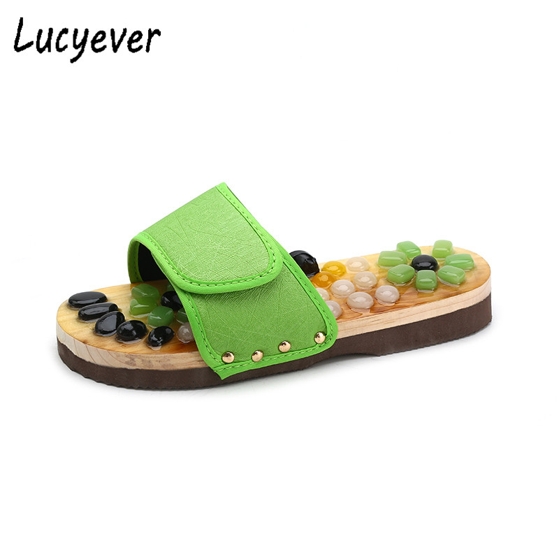 Lucyever 2018 New Style Summer Women Slipper Causal Stone Comfortable Beach Flip Flops Flat with Candy Colors Slides Shoes Woman