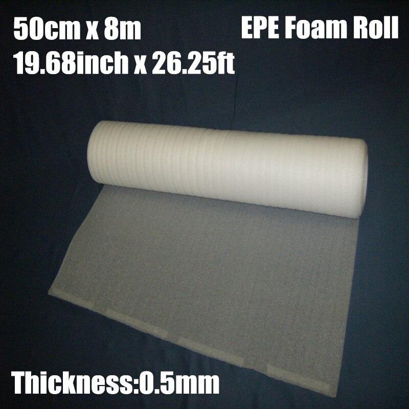 0.5*8m 1 pces 0.5mm proteção epe espuma embalagem rolo laser warp envio pré-corte correio embalagem filme material verpakkings materiaal