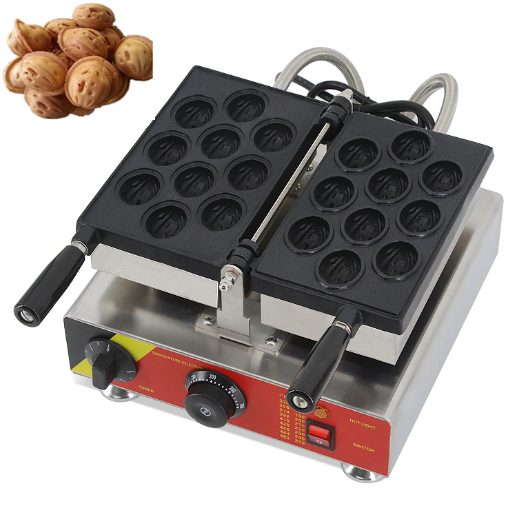 Commercial 110V/220V walnut shape waffle maker/Electric Walnut Cake Waffle Maker/Walnut Cake Making Machine commercial non stick 110v 220v digital electric 23pcs walnut waffle maker iron machine