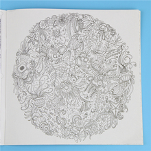 1 Pcs 24 Pages Mandalas Flower Coloring Book For Children Adult Relieve Stress Kill Time Graffiti Painting Drawing Art Book