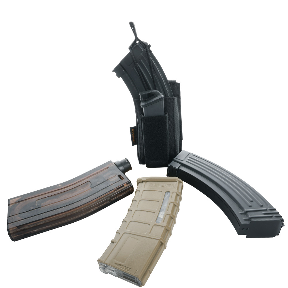 Tactical Molle  Clip Pouch Hunting Magazine Bag Military Paintball Game AK M4 Pistol Clip Accessory