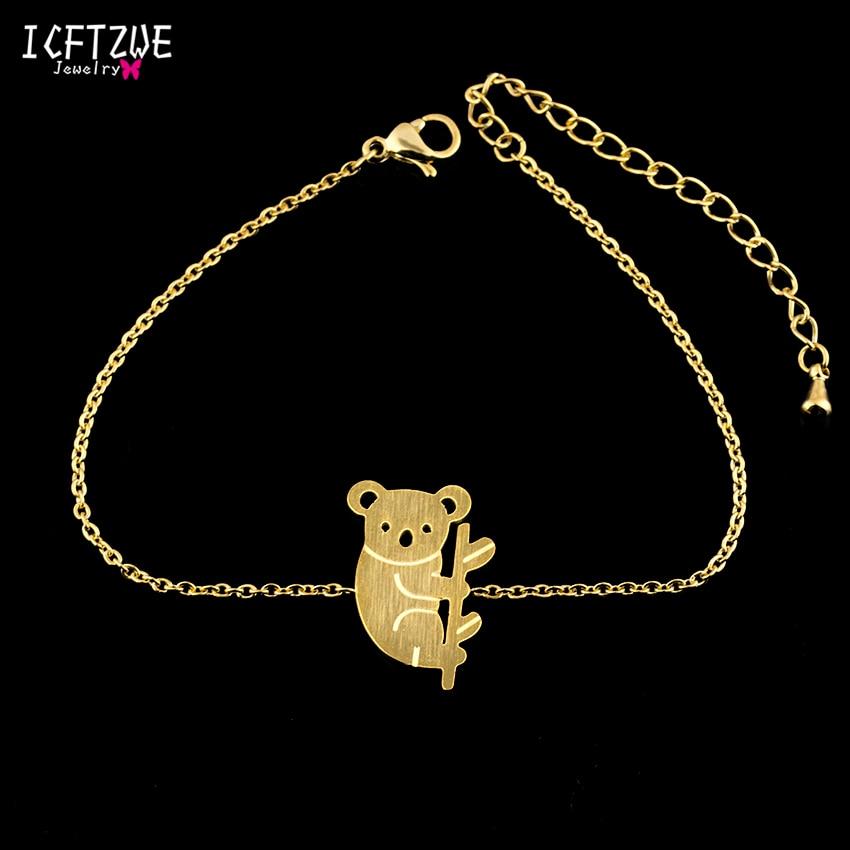 ICFTZWE Goldkette Armband Femme Edelstahl Schmuck Australien Koala - Modeschmuck - Foto 3