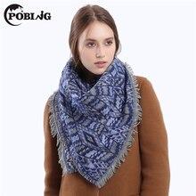 POBING 2017 Winter Scarf Women Warm Cashmere Scarves & Wraps Basic Acrylic Shawl Female Blanket Scarf Spain Geometric Bufandas
