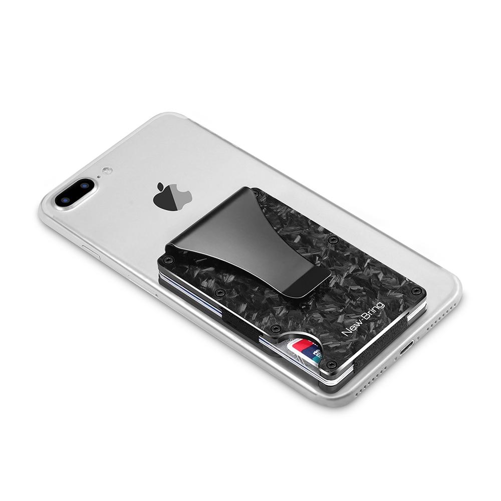 Image 5 - NewBring Slim Abstract Texture Carbon Fiber Card Holder Credit Card ID RFID Blocking Wallet Front Pocket Gift EDC MinimalistCard & ID Holders   -