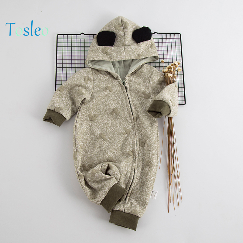 2018 Tosleo Baby Boy Costume Baby Spring Romper Clothes Animal Hooded Newborn Kids Cotton Clothes Hooded Zipper Green Pink Color spring baby romper infant boy bear romper newborn hooded animal clothes toddler cute panda romper kid girl jumpsuit baby costume
