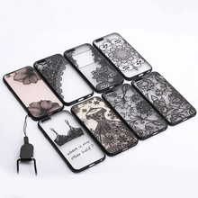 New Fashion Phone Cases For iPhone 6 6s 6Plus 6s Plus Sexy Lace Floral Paisley Flower Mandala Henna PC+TPU Vintage Back Cover