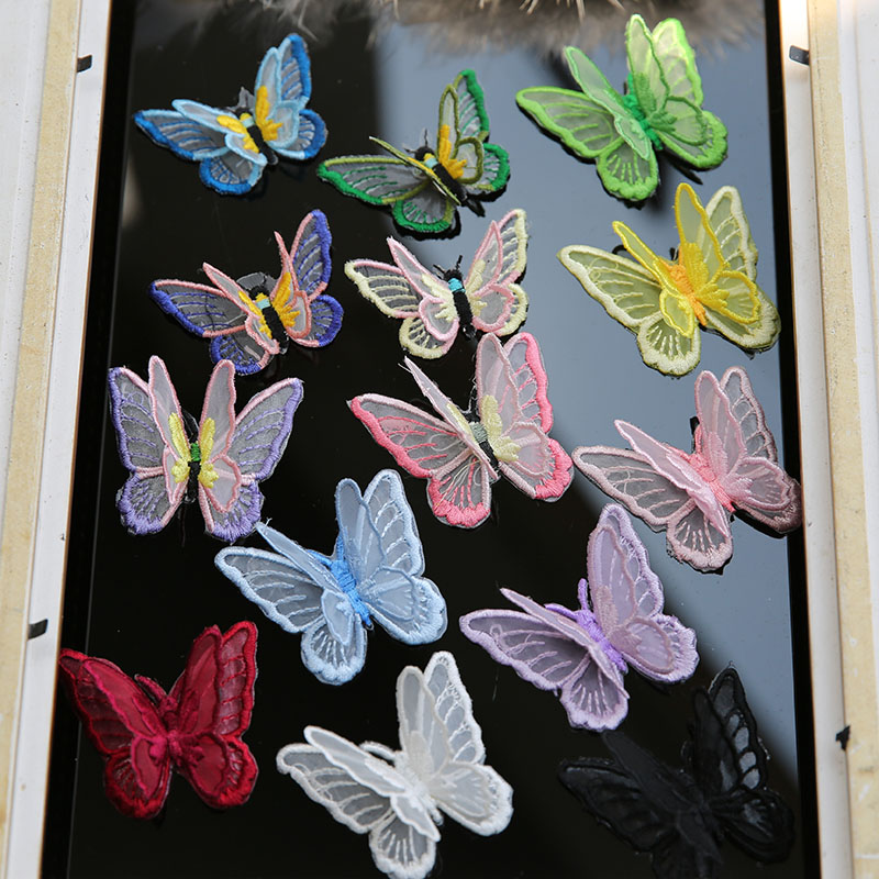 1PC Butterfly applique embroidery flower patches Romantic Colorful Sew On embroidered patches for clothes RP146|Patches| - AliExpress