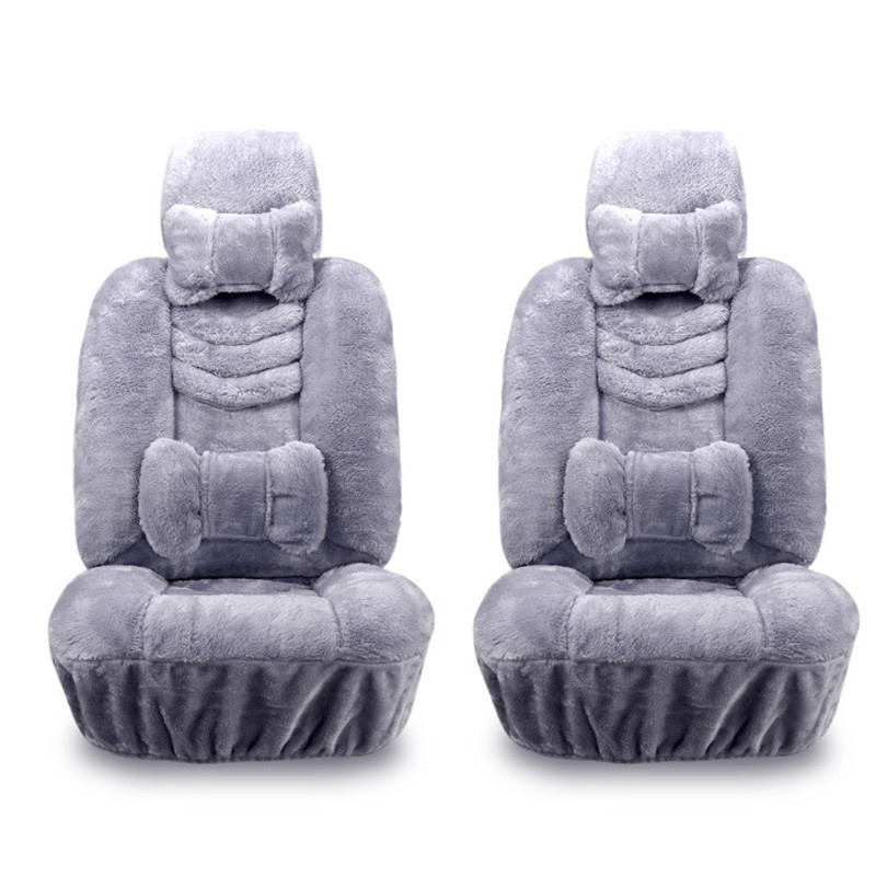 где купить 10pcs/set Car Seat Cover Set Plush Car Seats Real Fur Car Interior Accessories Cushion Winter Warm Wool Cushion Cover по лучшей цене
