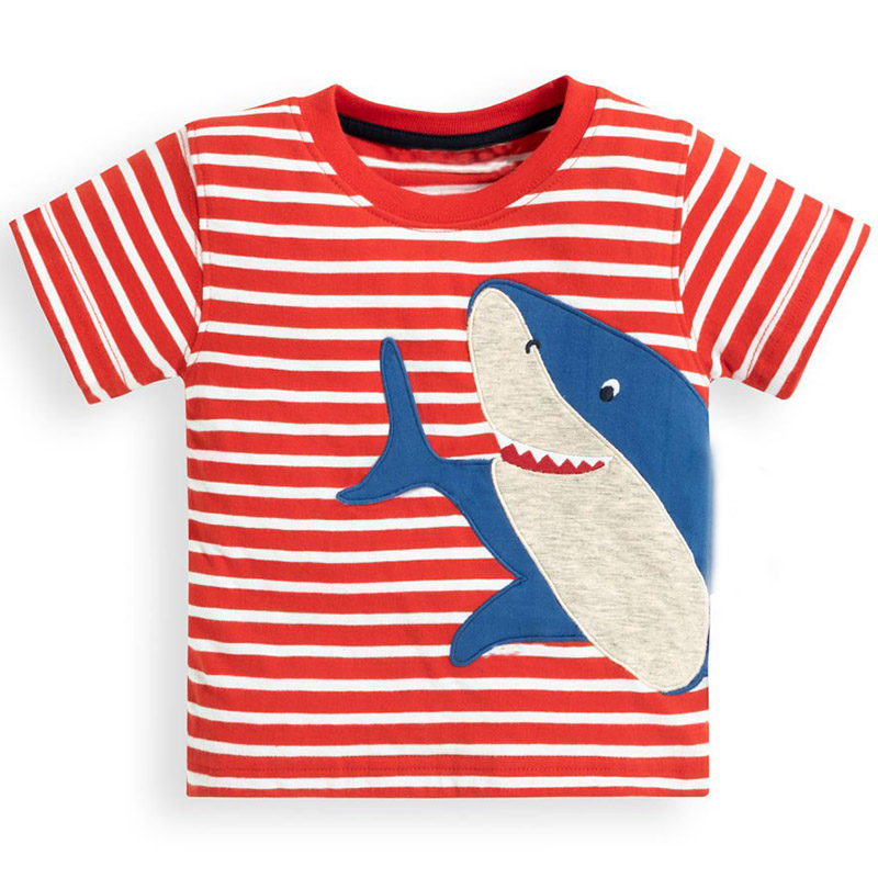 36250c305aa8 Jumping Meters Boys Tops Animal Applique Baby Boy Clothes Kids Tee Shirt  Fille Children T shirts