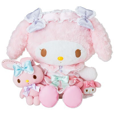 15Inch Cartoon Figure Doll My Melody Pink With Rabbit Baby Animal Toy With Dress Gift Car Styling Decoration Gift