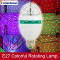 1 шт./лот 6 Вт E27 RGB 3 Led Красочный Вращающийся Спот Кристалл свет Лампы XMAS участник свет сценическое освещение эффект гаджет led
