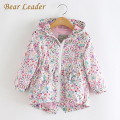 Bear Leader Girls Hooded Jackets 2016 Outerwear&Coats Kids Clothes Long Sleeve Butterfly printing Hooded Waist jacket Children