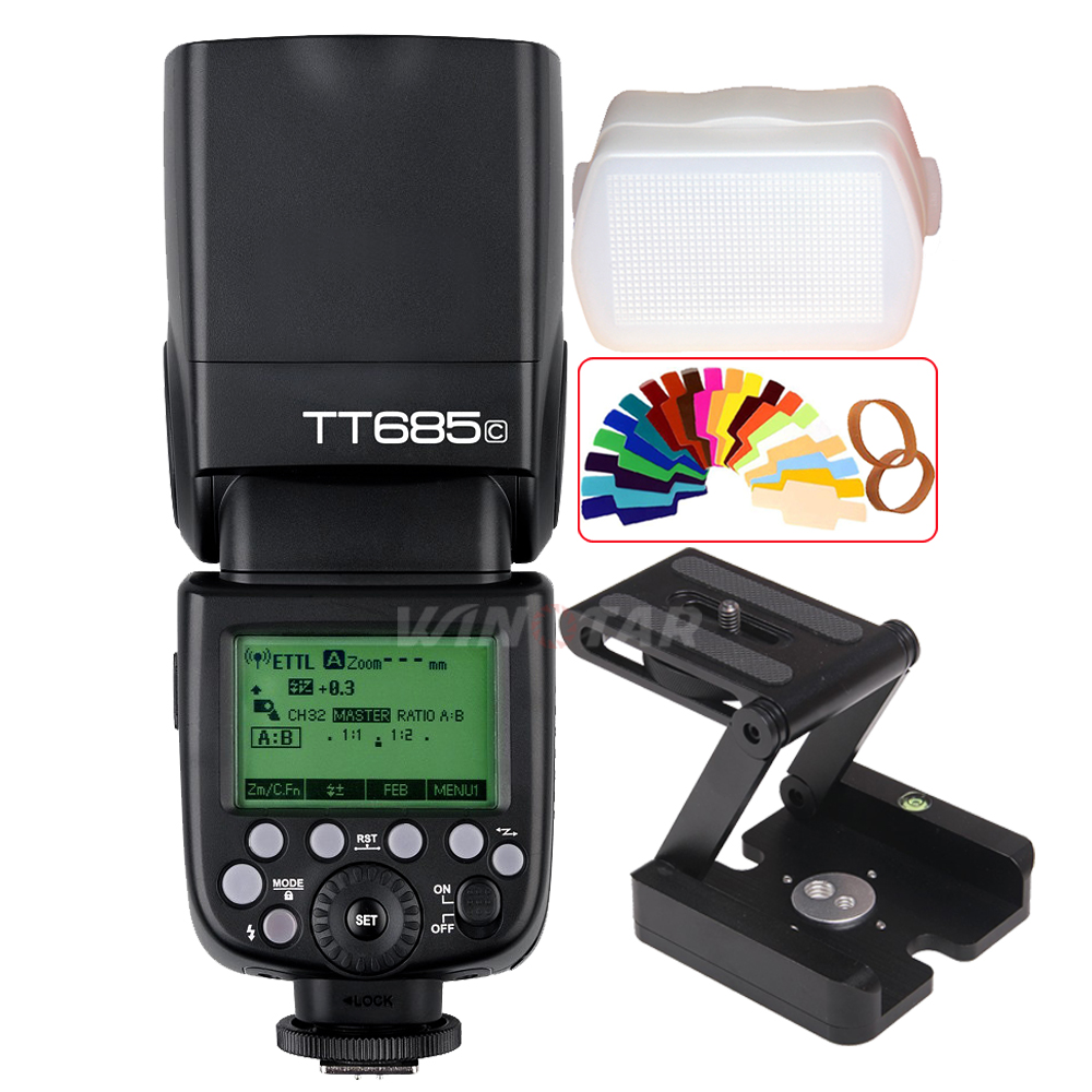 Godox TT685C 2 4G E TTL II Speedlite Flash Z Tripod Bracket Head for Canon 800D