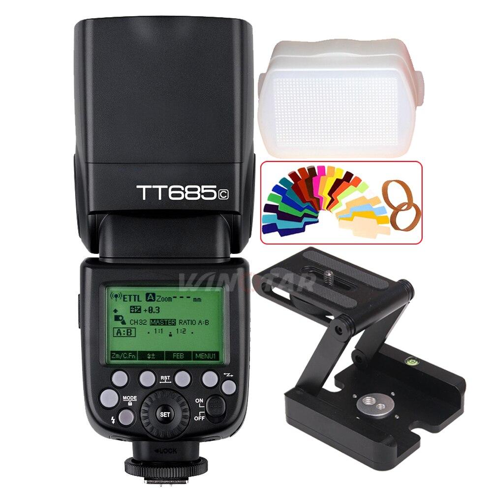 Godox TT685C 2.4 グラム E TTL Ii スピードライトフラッシュ + Z 三脚ブラケットキヤノン 800D 760D 750D 700D 650D 80D 70D 60D 7D 6D 5D IV/II  グループ上の 家電製品 からの 点滅 の中 1