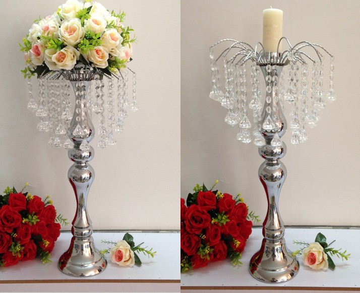 Hotel Supplies Wedding Props Crystal Fountain Table Flower Decor Candelabra Candle Holder Centerpiece Bowl In Party Diy Decorations From Home