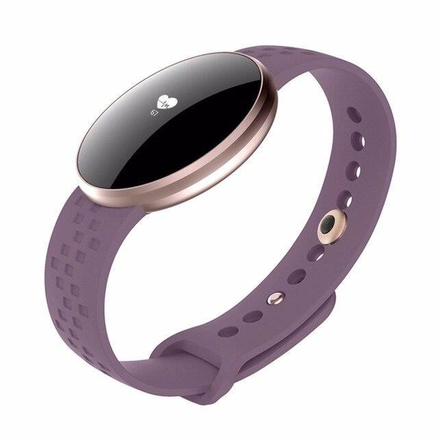 GEJIAN Sport bracelet connecté de Fréquence Cardiaque Surveillance Du Sommeil montre connectée Sport Calories Top Femelle montre connectée Femme Mode Horloge