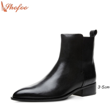 Chelsea Ankle Boots For Women Black Patent Leather 2017 Autumn Winter Fashion Bota Feminina Top Quality Shoes Large Size 4-16