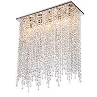 прямоугольник светодиодный хрусталь Потолочный светильник для столовой люстры современный потолочный свет спальня свадебное освещение к