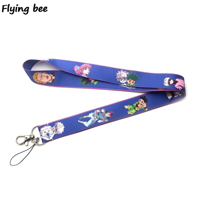 Flyingbee Keychain Lanyard Badge Lanyards Mobile Phone Rope Keyring Key Lanyard Neck Strap Accessories X0131