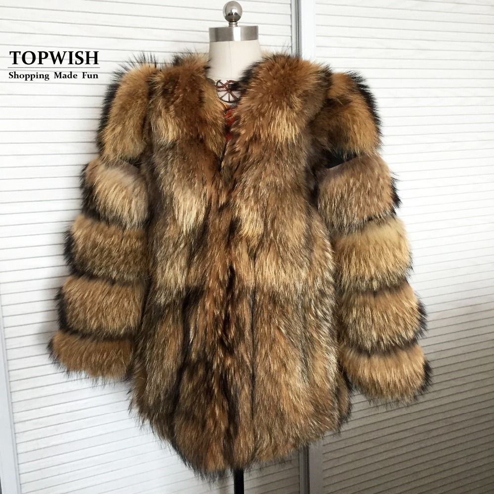 2019 Thick Luxury Real Natural Pure Fox Fur Coat Mix